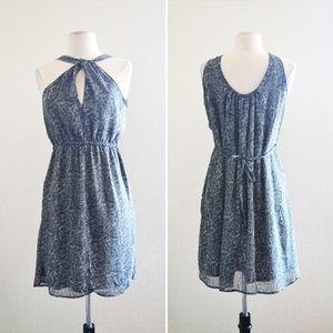 Converse Gray Pattern Halter Dress Size Small